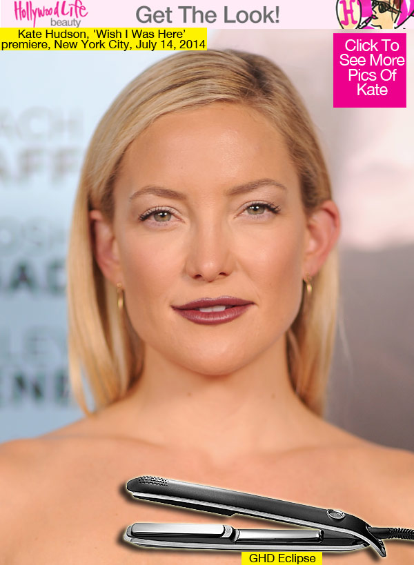 Kate Hudson's Sleek & Straight Hair At 'Wish I Was Here' — Exact ...